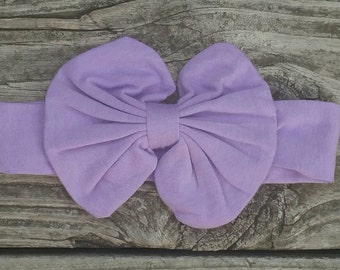 Lavender Bow on Headband
