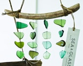 Mini Sea Glass Mobile / Wall Hanging / Zen Beach Art