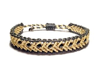 Gold band bracelet