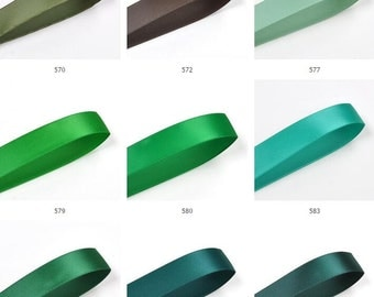 green Satin Ribbon ,mint color Trim, Craft, Wedding trimming, Cards ribbon sell by 100yards