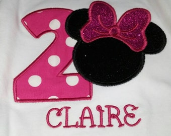 Minnie Mouse birthday shirt, Minnie Birthday Shirt, Custom Birthday Shirt with name