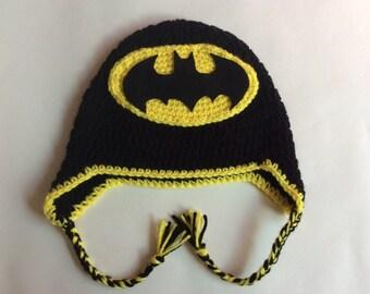 Crochet Batman Inspired Hat