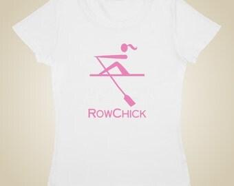 Woman's rowing shirt - RowChick logo