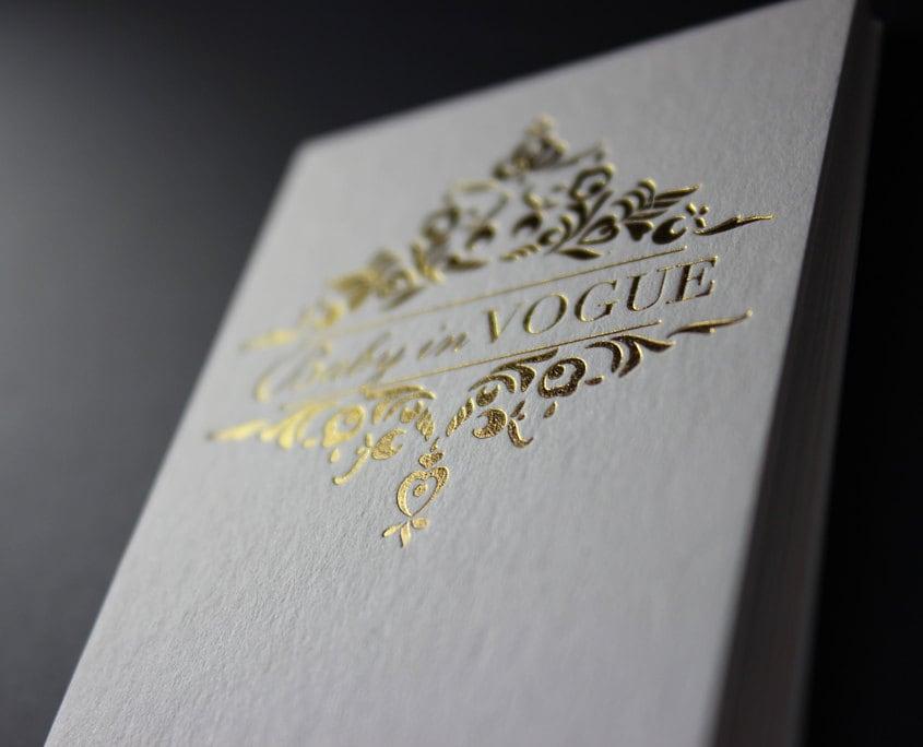 Gold foil business cards 200 pcs
