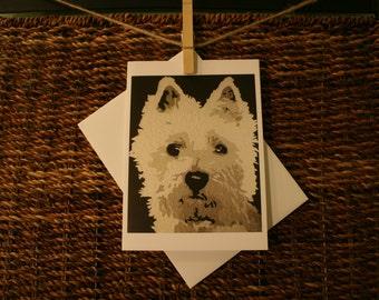 Westie Terrier Blank 5x7 Notecard