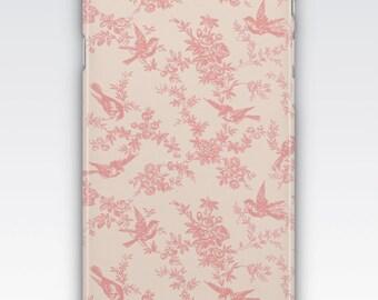 iPhone 6s Case, iPhone 6 Plus Case, iPhone 5s Case, iPhone SE Case, iPhone 5c Case, iPhone 7 case - Pink & Cream Vintage French Floral