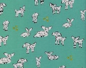 Clover by Alexia Marcelle Abegg for Cotton and Steel - Fat Quarter- Little Lamb in Turquoise