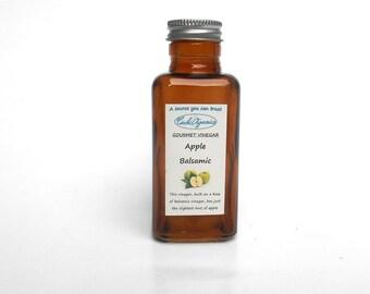 GOURMET APPLE BALSAMIC vinegar, small balsamic vinegar, amber glass bottle, 3.4 oz. 100 ml
