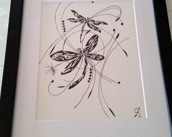 The Chase, 3 of 6 in my Dragonfly Series done in 2015.