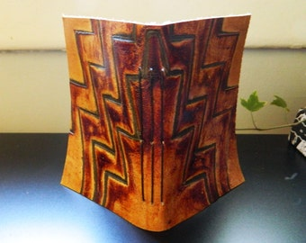 embossed leather handmade journal