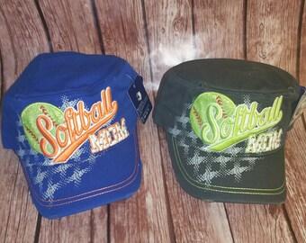 Softball Mom Cadet Hat- Purple