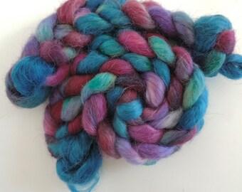 teeswater silk,Beerenbärchen, top, handdyed, spinning fiber 4,2oz