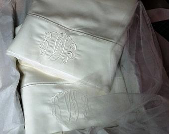 Monogrammed Pillowcases (Pair)