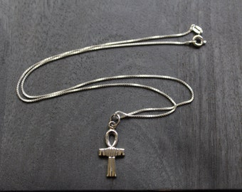 Ankh (Small) Egyptian Necklace Sterling Silver