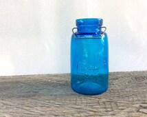 Good Housekeeping Antique Blue Jar