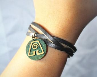 Earth Kingdom Bracelet - Avatar: The Last Airbender and Legend of Korra - Leather & Adjustable