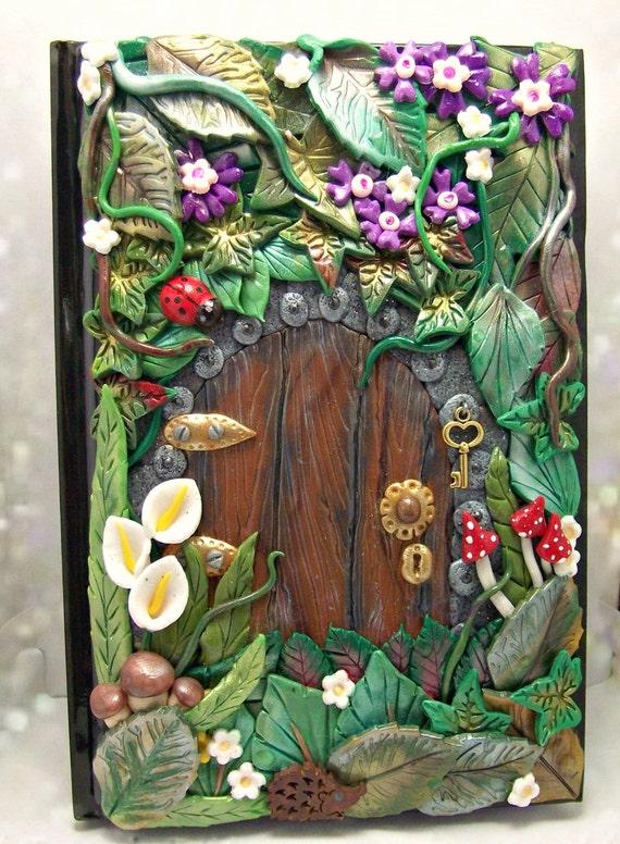 Secret fairy door notebook journal for Secret fairy doors by blingderella