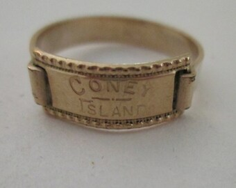Coney Island 14k gold ring