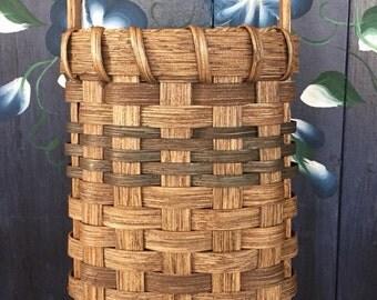 Handmade Basket, Hanging Basket, Wall Basket, Door Basket, Flower Basket, Made in USA