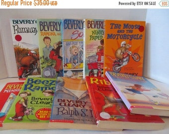 ON SALE BEVERLY Cleary - 10 Book Set - Ramona, Socks, Henry, Mouse and Motorcycyle, Beezus, Ralph S Mouse, Ribsy, Runaway, Ralph