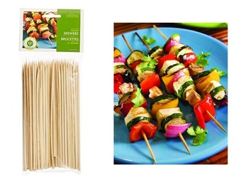 Bamboo Skewers 6 Inch 100 Count, For Arts And Crafts Or Serving Seafood Appetizer, Vegetables At Parties Or Grilling Sandwiches, Bamboo Skew