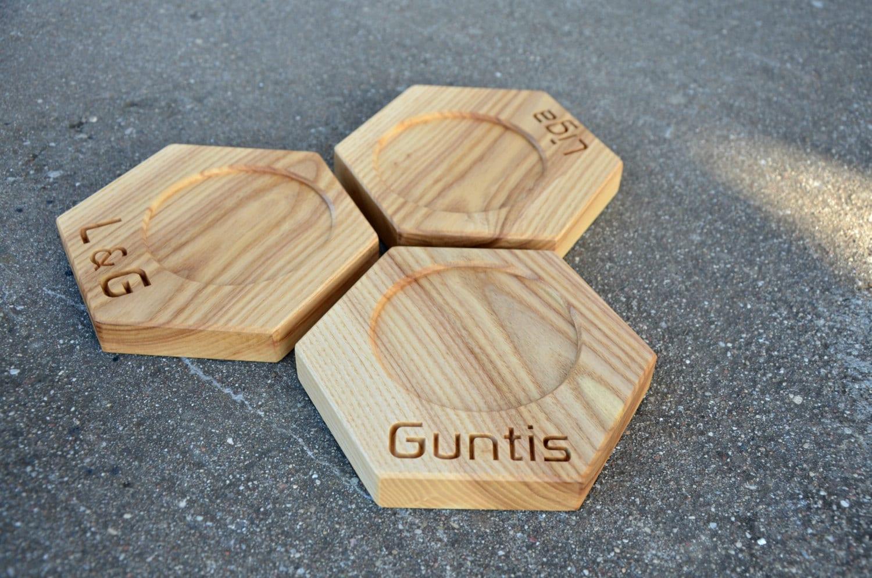 Personalized Wooden Drink Coasters By Klikklakblocks On Etsy