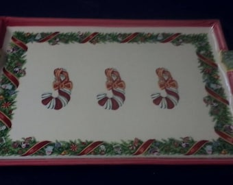 Zrike 'Christopher's Tree' Handled Rectangle Platter