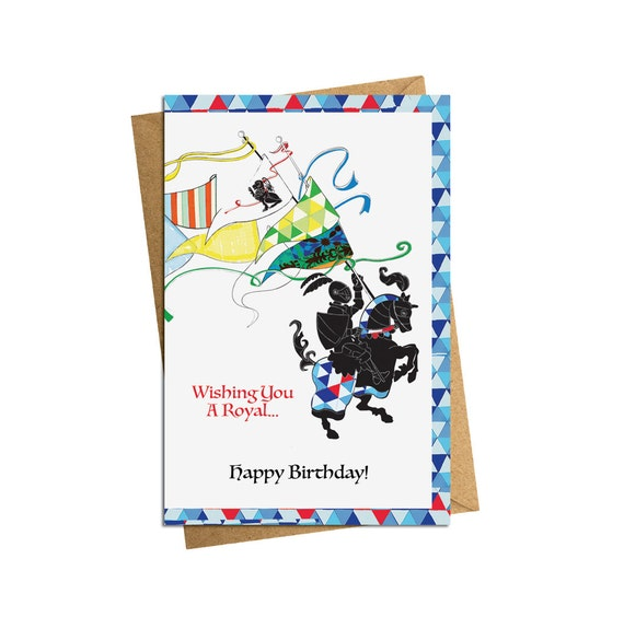 Knight Birthday Card