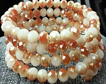 Peaches & Cream Coil Bracelet