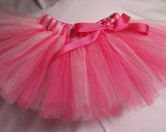 Hot Pink and  Pink Tutu, Hot Pink light pink tutu, infant tutu, baby tutu, newborn tutu, toddler tutu, preemie tutu, birthday tutu, tutu