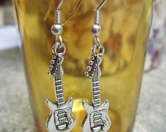 Bass Guitar Earrings - Free Shipping!