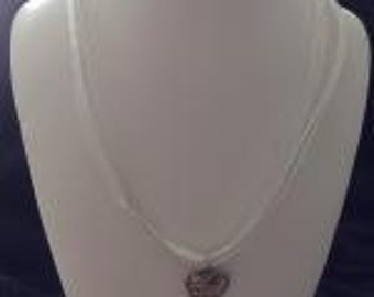 Necklace organze, WHITE color, size 43cm