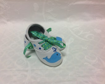 Cute whale kids shoes