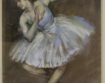Original old painting Ballet Dancer James Ardern Grant signed dated 1929 framed English listed artist Freight cost extra