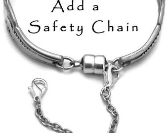 Add On - Bracelet Safety Chain  - Add a Safety Chain ~ Add On with Bracelet Purchase Stainless Steel Chain