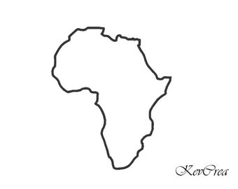 Machine Embroidery Design Africa Map applied in 5x7 Size and 4x4 Size - INSTANT DOWNLOAD