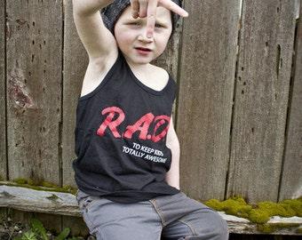 Dare to be Rad Tank, Rad shirt, Dare shirt, cool kid tee, 80s shirt, 80s kid shirt, throwback shirt