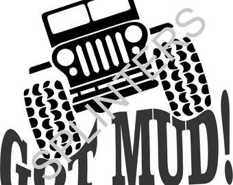 Jeep GOT MUD! SVG File
