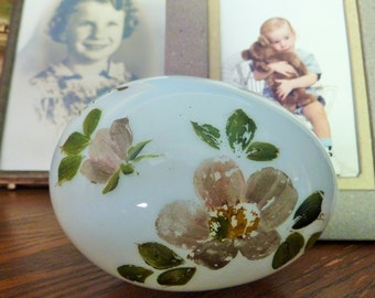 Antique Blown Glass Easter Egg