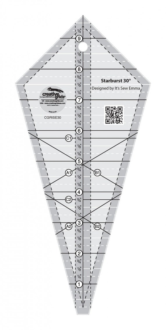 Starburst 30 Degree Triangle Ruler By Creative Grids
