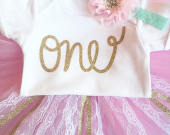 Glitter birthday shirt, girls first birthday outfit, tutu, pink tutu, cake smash outfit, first birthday outfit, birthday tutu, glitter shirt