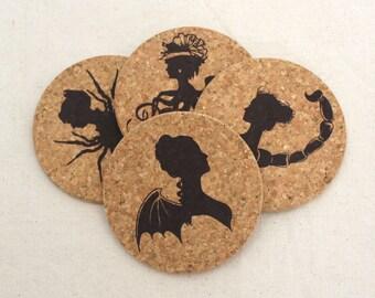 Femme Fatales Cork Coaster Set of 4