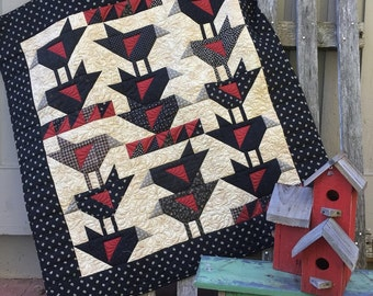 Redwing Blackbird Quilt Pattern