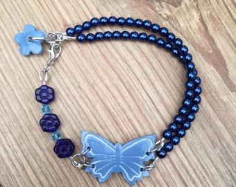 Blue butterfly bracelet