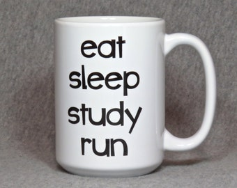 running mug, large 15 oz. coffee mug for student runner, high school or college runner, track and field, gift for runner, cross country