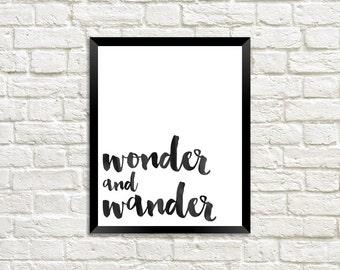 Wonder and Wander Digital Print