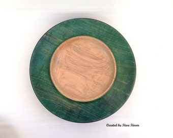 Decorative Platter - Ambrosia Maple - Dyed Rim