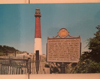 Vintage NJ Postcard Barnegat Lighthouse NJ Long Beach New Jersey Postcard