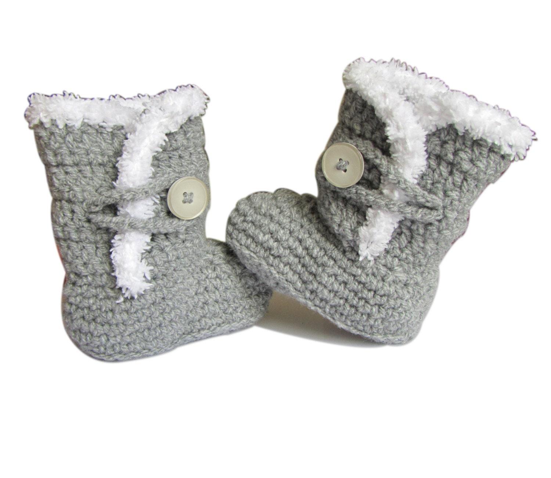 ugg crochet baby booties