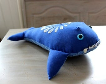 Embroidered Whale